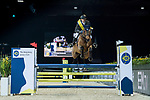 Team JC rider Simon Delestre of France riding Bamako M'Aurea competes in the HKJC Race Of The Riders during the Longines Masters of Hong Kong at the Asia World Expo on 09 February 2018, in Hong Kong, Hong Kong. Photo by Diego Gonzalez / Power Sport Images