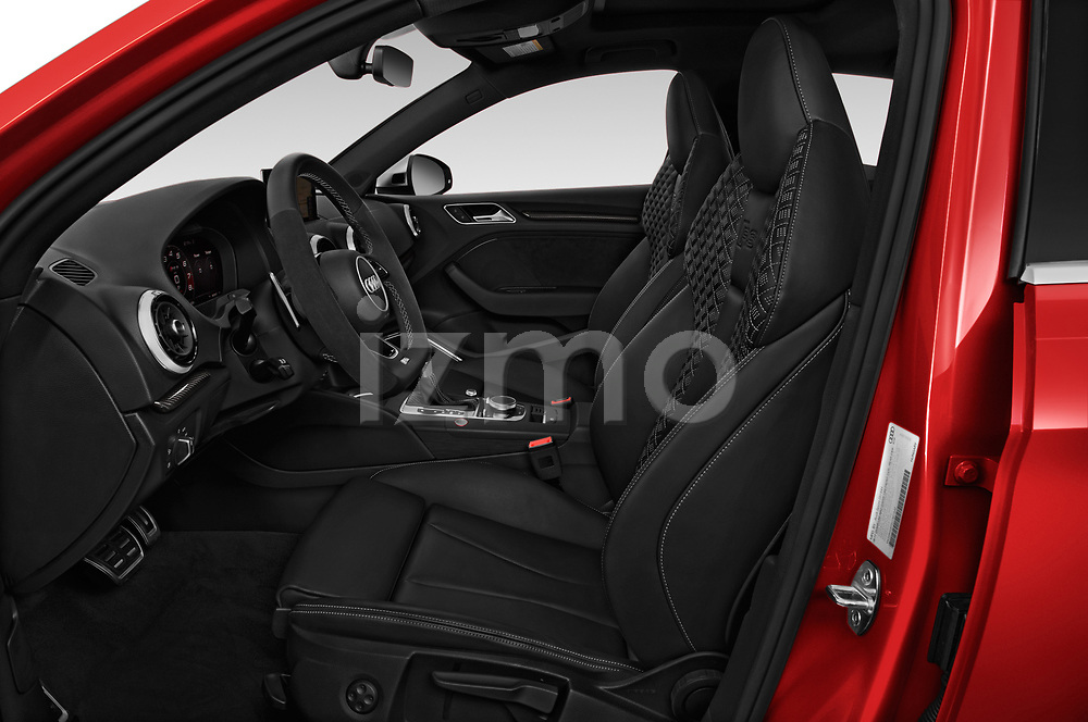 Front seat view of a 2017 Audi RS 3 Base 4 Door Sedan front seat car photos