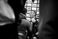 Dwars Door Vlaanderen 2013.Mathew Hayman (AUS) getting ready for the podium after finishing 3rd