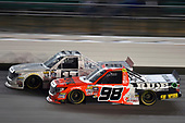 NASCAR Camping World Truck Series<br /> Toyota Tundra 250<br /> Kansas Speedway, Kansas City, KS USA<br /> Friday 12 May 2017<br /> Grant Enfinger, Ride TV Toyota Tundra and Timothy Peters, Red Horse Racing Toyota Tundra<br /> World Copyright: Nigel Kinrade<br /> LAT Images<br /> ref: Digital Image 17KAN1nk07558