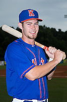 Patrick Mazeika (19) of the Kingsport Mets poses for a photo prior to the game against the Elizabethton Twins at Hunter Wright Stadium on July 8, 2015 in Kingsport, Tennessee.  The Mets defeated the Twins 8-2. (Brian Westerholt/Four Seam Images)