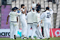 Ishant Sharma and India celebrate the wicket of Devon Conway during India vs New Zealand, ICC World Test Championship Final Cricket at The Hampshire Bowl on 20th June 2021