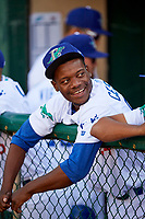 Francis Cespedes (54) of the Ogden Raptors before the game against the Orem Owlz in Pioneer League action at Lindquist Field on June 21, 2017 in Ogden, Utah. The Owlz defeated the Raptors 16-5. This was Opening Night at home for the Raptors.  (Stephen Smith/Four Seam Images)