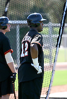 Angel Villalona / San Francisco Giants 2008 Instructional League..Photo by:  Bill Mitchell/Four Seam Images