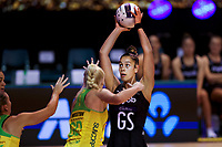 Maia Wilson in action during the Constellation Cup international netball series match between New Zealand Silver Ferns and Australian Diamonds at Christchurch Arena in Christchurch, New Zealand on Tuesday, 2 March 2021. Photo: Martin Hunter / lintottphoto.co.nz