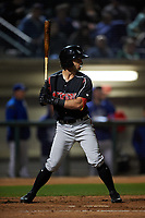 Lake Elsinore Storm left fielder Nate Easley (3) at bat during a California League game against the Rancho Cucamonga Quakes at LoanMart Field on May 19, 2018 in Rancho Cucamonga, California. Lake Elsinore defeated Rancho Cucamonga 10-7. (Zachary Lucy/Four Seam Images)