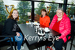Enjoying the outdoor dining at the Horseshoe Bar in Listowel on Sunday, l to r: Mary Ellen Costello, Helen Moloney and Mary McEnery.
