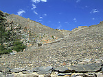 Incan hillside fortress at the town of Ollantaytambo in the Sacred Valley of the Incas (Peru).