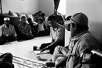 Taking the role of organiser and activist, Myo Myint addresses a meeting of Burmese Muslim refugees in his brother's house in Fort Wayne, Indiana. At 16 Myo joined the army of the ruling Burmese junta, where he lost his right forearm and lower leg whilst laying a mine. The blast also took away his left eye and most of the fingers on his left hand. It was while recovering from his injuries in hospital that Myo Myint made the life altering and dangerous decision to change sides. He joined the new democratic opposition, a choice that would lead to a total of 15 years spent in prison. The documentary 'Burma Soldier' follows Myo Myint's journey from refugee camp on the Thai-Burma border to eventually being re-united with his siblings in the United States, chronicling his transformation from a soldier of Burma's junta to democracy activist; from a political prisoner to a refugee in a foreign land.