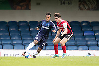 Ashley Nathaniel-George, Southend United cuts inside Josh Key of Exeter City during Southend United vs Exeter City, Sky Bet EFL League 2 Football at Roots Hall on 10th October 2020