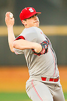 North Carolina State Wolfpack starting pitcher Carlos Rodon (16) in action against the Wake Forest Demon Deacons at Wake Forest Baseball Park on March 15, 2013 in Winston-Salem, North Carolina.  The Wolfpack defeated the Demon Deacons 12-6.  (Brian Westerholt/Four Seam Images)