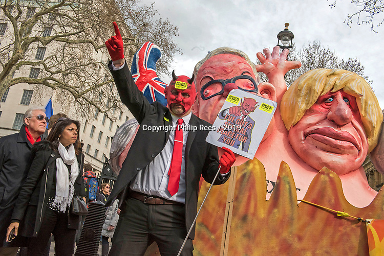 """The """"Put it to the People"""" rally makes it's way through central London today. Demonstrators from across the country gathered to call for a second referendum on Brexit and to march through the UK capital finishing with speeches in Parliament Square opposite the Houses of Parliament in Westminster."""