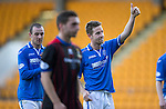 St Johnstone v Inverness Caledonian Thistle...05.10.13      SPFL<br /> Thumbs up from Steven MacLean at full time<br /> Picture by Graeme Hart.<br /> Copyright Perthshire Picture Agency<br /> Tel: 01738 623350  Mobile: 07990 594431