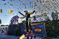 IMSA Continental Tire SportsCar Challenge<br /> Mazda Raceway Laguna Seca 240<br /> Mazda Raceway Laguna Seca<br /> Monterey, CA USA<br /> Saturday 23 September 2017<br /> 99, Aston Martin, Aston Martin Vantage, GS, Al Carter, winner, podium<br /> World Copyright: YOUR NAME HERE<br /> LAT Images