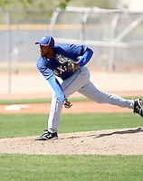 Francisco Mendoza, Texas Rangers minor league spring training..Photo by:  Bill Mitchell/Four Seam Images.