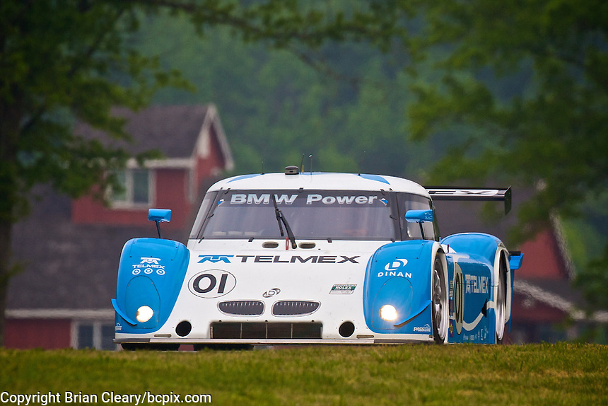 The #01 BMW Riley of Scott Pruett and Memo Rojas races to victory in the Bosch Engineering 250 at Virginia International Raceway, Alton, VA, April 2010.  (Photo by Brian Cleary/www.bcpix.com)