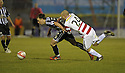 27/11/2010   Copyright  Pic : James Stewart.sct_jsp013_hamilton_v_st_mirren  .::  PAUL MCGOWAN  GETS AWAY FROM GRANT GILLESPIE ::.James Stewart Photography 19 Carronlea Drive, Falkirk. FK2 8DN      Vat Reg No. 607 6932 25.Telephone      : +44 (0)1324 570291 .Mobile              : +44 (0)7721 416997.E-mail  :  jim@jspa.co.uk.If you require further information then contact Jim Stewart on any of the numbers above.........