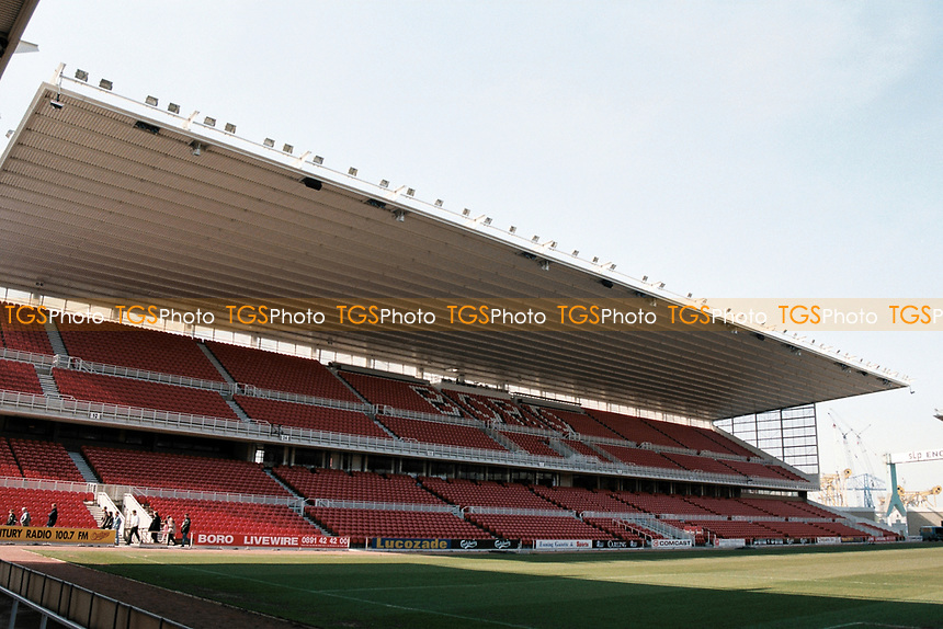 General view of Middlesbrough FC, Cellnet Riverside Stadium, Middlesbrough, United Kingdom pictured on 4th April 1996