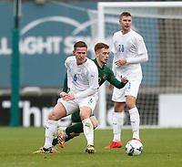 15th November 2020; Tallaght Stadium, Dublin, Leinster, Ireland; 2021 Under 21 European Championships Qualifier, Ireland Under 21 versus Iceland U21; Connor Ronan (Republic of Ireland) gets away from Alex Hauksson (Iceland)