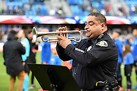 SAN JOSE, CA - MARCH 7: National anthem during a game between Minnesota United FC and San Jose Earthquakes at Earthquakes Stadium on March 7, 2020 in San Jose, California.