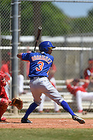 New York Mets Jean Rodriguez (3) during a minor league spring training game against the St. Louis Cardinals on April 1, 2015 at the Roger Dean Complex in Jupiter, Florida.  (Mike Janes/Four Seam Images)