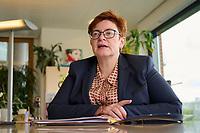 Christine Behle, seit 2019 stellvertretende Vorsitzende der Dienstleistungsgewerkschaft ver.di.<br /> 30.9.2021, Berlin<br /> Copyright: Christian-Ditsch.de