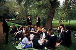 'OXFORD UNIVERSITY' 1995, ST EDMUND HALL FRESHERS PICNIC BY THE RIVER CHERWELL, 1995