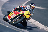 1978, Nurburgring, Germany;  Barry Sheene in Carousel the Nürburgring North loop on Suzuki RG 500cc the Race for The World Cup 1976. Sheene was 1976 and 1977 World Champion on Suzuki in the Class 500cc