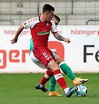 17.10.2020, Schwarzwald Stadion, Freiburg, GER, 1.FBL, RB Leibzig vs SV Werder Bremen<br /><br />im Bild / picture shows<br />Milot Rashica (Bremen), Baptiste Santamaria (Freiburg)<br /><br />Foto © nordphoto / Bratic<br /><br />DFL REGULATIONS PROHIBIT ANY USE OF PHOTOGRAPHS AS IMAGE SEQUENCES AND/OR QUASI-VIDEO.