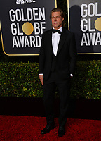 LOS ANGELES, USA. January 06, 2020: Brad Pitt arriving at the 2020 Golden Globe Awards at the Beverly Hilton Hotel.<br /> Picture: Paul Smith/Featureflash