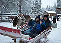 03/12/15<br /> <br /> Tel: 07734 603843.<br /> <br /> Reindeer ride.<br /> <br /> The Julian family from Derby: Ethan, Nadine and Nick.  <br /> <br /> <br /> Sick children are flown from East Midlands Airport to visit Santa and spend the day in Lapland. When You Wish Upon A Star have been arranging these festive flights for 24 years.<br />  <br /> All Rights Reserved: F Stop Press Ltd. +44(0)1335 418365   +44 (0)7765 242650 www.fstoppress.com