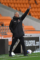 Blackpool's Manager Neil Critchley<br /> <br /> Photographer Dave Howarth/CameraSport<br /> <br /> EFL Trophy - Northern Section - Group G - Blackpool v Leeds United U21 - Wednesday 11th November 2020 - Bloomfield Road - Blackpool<br />  <br /> World Copyright © 2020 CameraSport. All rights reserved. 43 Linden Ave. Countesthorpe. Leicester. England. LE8 5PG - Tel: +44 (0) 116 277 4147 - admin@camerasport.com - www.camerasport.com