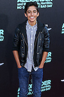 HOLLYWOOD, LOS ANGELES, CA, USA - OCTOBER 06: Karan Brar arrives at the World Premiere Of Disney's 'Alexander And The Terrible, Horrible, No Good, Very Bad Day' held at the El Capitan Theatre on October 6, 2014 in Hollywood, Los Angeles, California, United States. (Photo by Xavier Collin/Celebrity Monitor)