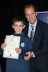 St Johnstone FC Youth Academy Presentation Night at Perth Concert Hall..21.04.14<br /> Alec Cleland presents to Aaron Carlon<br /> Picture by Graeme Hart.<br /> Copyright Perthshire Picture Agency<br /> Tel: 01738 623350  Mobile: 07990 594431