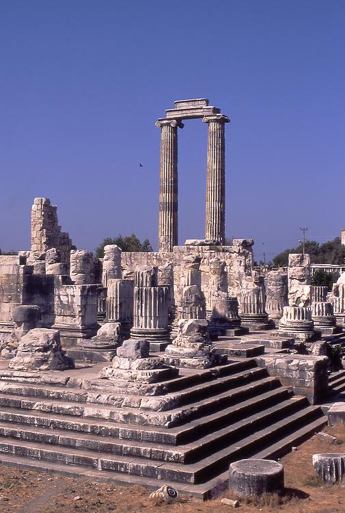 Asia, TUR, Turkey, Aegean Coast, Aegean, Didyma, Temple of Apollo ,Ionic Fluted Columns