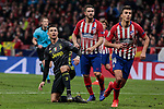 Atletico de Madrid's Koke Resurreccion (L) and Rodrigo Hernandez (R) and Juventus' Cristiano Ronaldo during UEFA Champions League match, Round of 16, 1st leg between Atletico de Madrid and Juventus at Wanda Metropolitano Stadium in Madrid, Spain. February 20, 2019. (ALTERPHOTOS/A. Perez Meca)