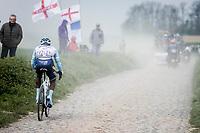 Joseph ARERUYA (RWA/Delko Marseille Provence) is the first Rwandan rider particapating in Roubaix. <br /> <br /> 117th Paris-Roubaix (1.UWT)<br /> 1 Day Race: Compiègne-Roubaix (257km)<br /> <br /> ©kramon