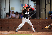 Chattanooga Lookouts second baseman Alex Perez (2) at bat during a game against the Mobile BayBears on May 5, 2018 at Hank Aaron Stadium in Mobile, Alabama.  Chattanooga defeated Mobile 11-5.  (Mike Janes/Four Seam Images)