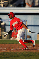 Batavia Muckdogs outfielder Rainel Rosario (30) during a game vs. the Mahoning Valley Scrappers at Dwyer Stadium in Batavia, New York June 29, 2010.  Mahoning Valley defeated Batavia 5-4.  Photo By Mike Janes/Four Seam Images