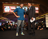 LAS VEGAS - JULY 17: Omar Figueroa attends the media workout for the PBC on Fox Sports Pay-Per-View at the MGM Grand on July 17, 2019 in Las Vegas, Nevada. (Photo by Frank Micelotta/Fox Sports/PictureGroup)