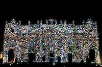 """Citta' del Vaticano 08-12-2015 Piazza San Pietro <br /> Fotografie e Video del National Geographic vengono proiettate sulla facciata della Basilica di San Pietro a rappresentare le culture dei cinque continenti. Il progetto denominato """"Fiat lux: illuminare la nostra casa comune"""" e' composto di Immagini ispirate al cambiamento climatico, alla dignita' umana e alle creature presenti sulla terra. <br /> Photographs and videos from National Geographic are projected on the facade of St. Peter's Basilica to represent the cultures of the five continents. The project called """" Fiat lux : enlighten our common home """"  consists of images inspired by climate change , from the human dignity and from the earth creatures <br /> Foto Andrea Staccioli Insidefoto"""