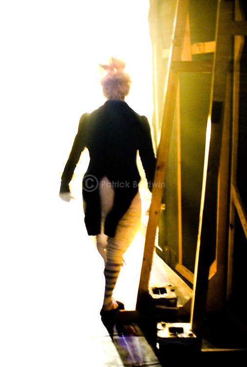 English National Ballet dancer Yat-Sen Chang makes his entrance as The White Rabbit