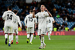 Real Madrid's Lucas Vazquez celebrates goal during Copa Del Rey match between Real Madrid and CD Leganes at Santiago Bernabeu Stadium in Madrid, Spain. January 09, 2019. (ALTERPHOTOS/A. Perez Meca)