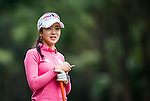 Shin-Ae Ahn of Korea looks on during the Hyundai China Ladies Open 2014 on December 10 2014 at Mission Hills Shenzhen, in Shenzhen, China. Photo by Xaume Olleros / Power Sport Images