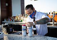 SAN JOSE, CA - SEPTEMBER 4: Bar before a game between Colorado Rapids and San Jose Earthquakes at PayPal Park on September 4, 2021 in San Jose, California.