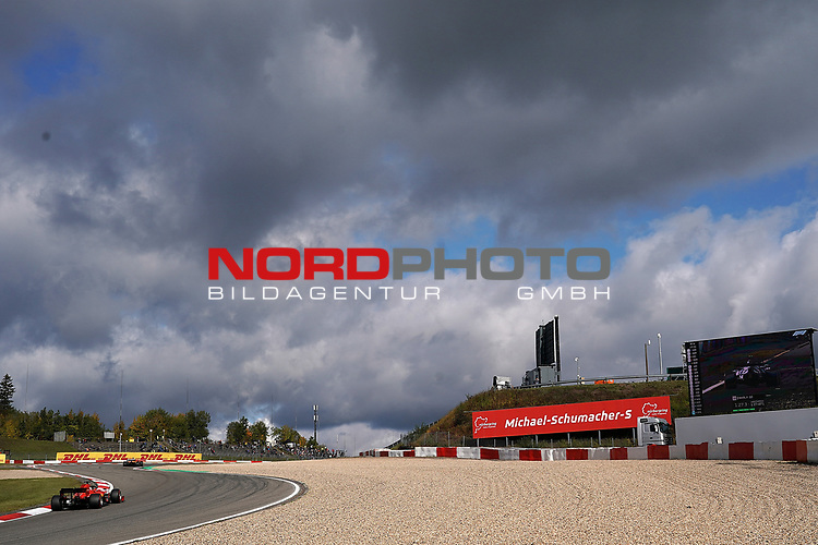 10.10.2020, Nürburgring, Nürburg, Formula 1 Aramco Grosser Preis der Eifel 2020<br /> , im Bild<br />Sebastian Vettel (GER#5), Scuderia Ferrari durchfährt das Michael-Schumacher-S<br /> <br /> Foto © nordphoto / Bratic