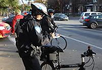 Photo d'archive de la police a velo,<br />  - circulation<br /> <br /> PHOTO :  AGENCE QUEBEC PRESSE