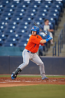St. Lucie Mets Mitch Ghelfi (11) at bat during a Florida State League game against the Tampa Tarpons on April 10, 2019 at George M. Steinbrenner Field in Tampa, Florida.  St. Lucie defeated Tampa 4-3.  (Mike Janes/Four Seam Images)
