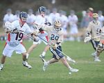 Ole MIss' Joe Loden (19) vs. Georgia Tech in lacrosse at the Ole Miss Intramural Fields in Oxford, Miss. on Saturday, February 2, 2013. Georgia Tech won 8-5.