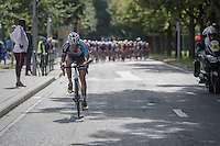 Alexis Gougeard (FRA/AG2R-La Mondiale) tries to escape from the pack with 4 km's to go<br /> <br /> Brussels Cycling Classic 2016